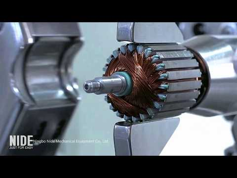Motor Manufacturing Automatically : Stator And Armature Production Assembly Line