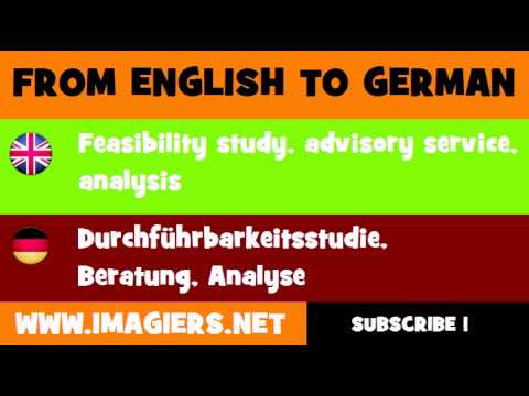 Deutsch Englisch Durchführbarkeitsstudie Beratung Analyse Youtube