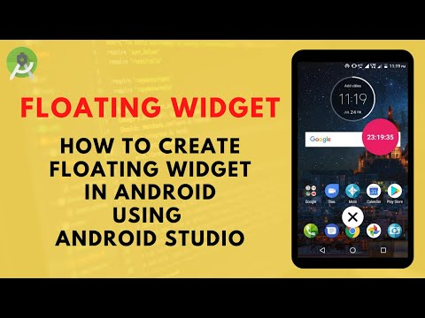 How To Create Floating Widget In Android Using Android Studio | Android Application Development