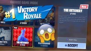 NEW GETAWAY GAME MODE | Fortnite Battle Royale