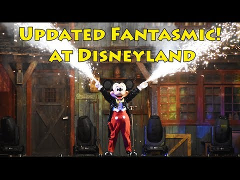 Fantasmic! at Disneyland Updated FULL SHOW, Official Debut Night, New Scenes Up Close, From Center