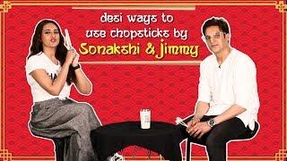 'Happy Phirr Bhag Jayegi' Stars Sonakshi & Jimmy Share Desi Ways To Use Chopsticks
