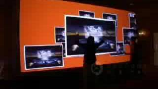 Obscura HP Multi-Touch Video Wall WSJ D5 HP conference