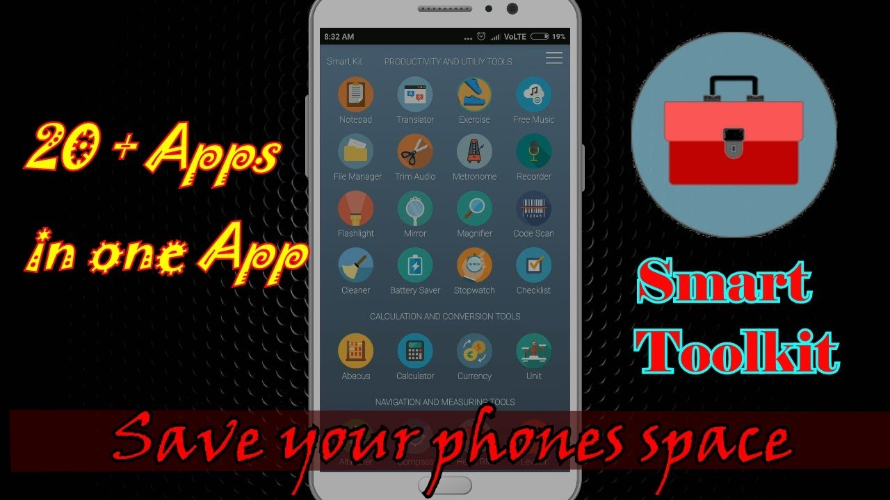 smart toolkit app review 2017 | save storage on your phone | best app for  android