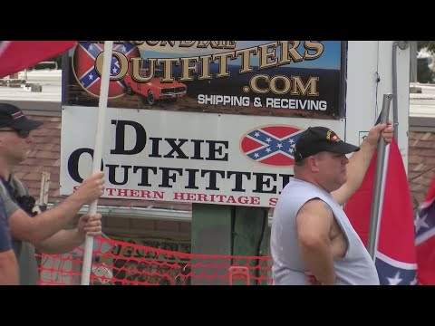 Protesters Clash At Dixie Outfitters In Branson Youtube