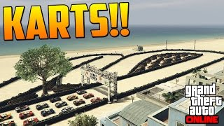 KARTS PLAYEROS! POR CULPA DEL ROSITA!! - Gameplay GTA 5 Online Funny Moments (Carrera GTA V PS4)