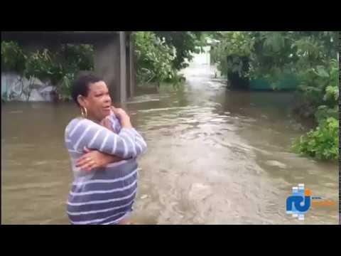 Ouragan Maria : Belle Plaine au Gosier (Guadeloupe) sous les eaux