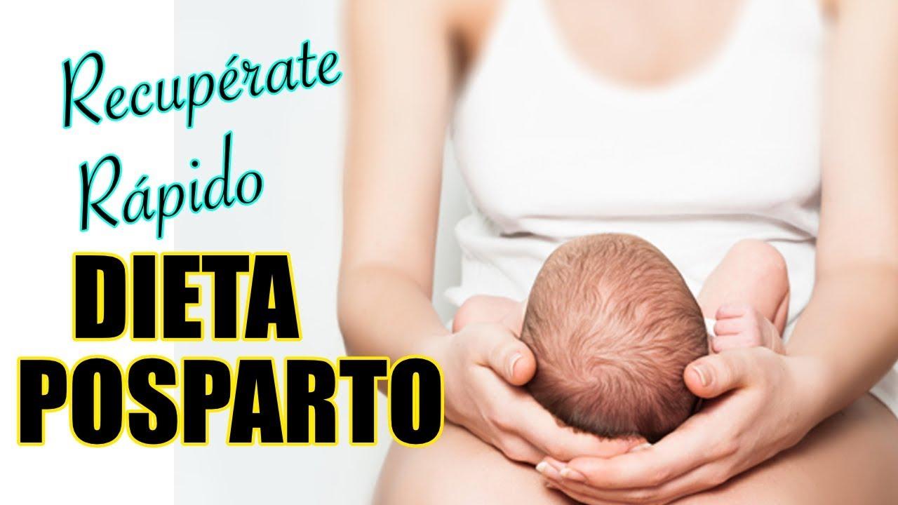 dieta después del parto por cesárea