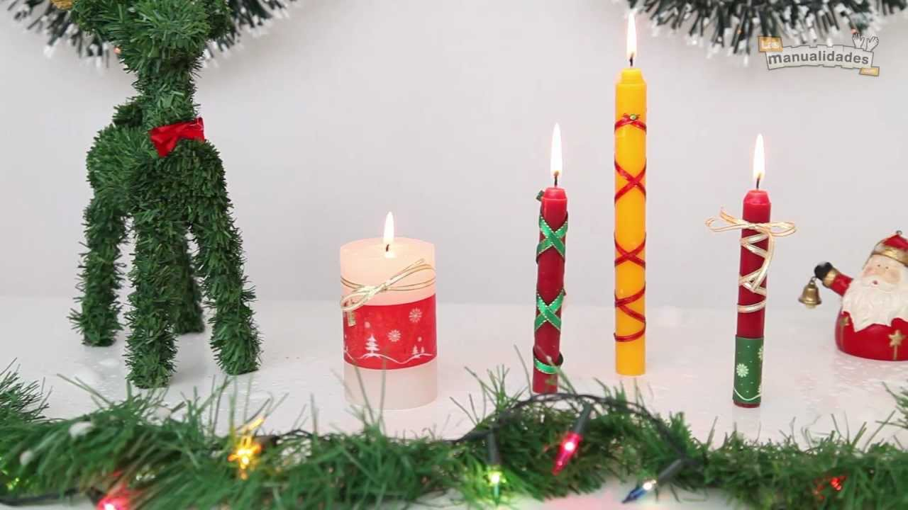 Velas navide as decoradas youtube for Decoracion de velas
