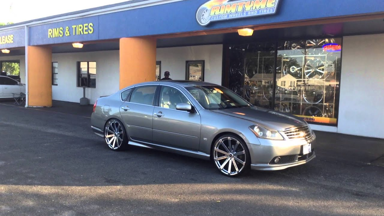 2007 Infiniti M45 On Some 22 U0026quot  Strada   Rimtyme Of Hampton