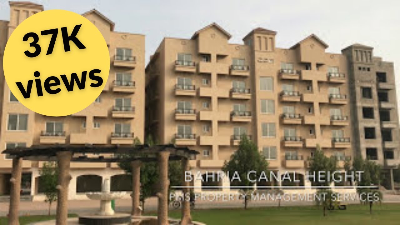 New Booking For Bahria Canal Heights 1 Bed 2 Bed Apartments Sect D
