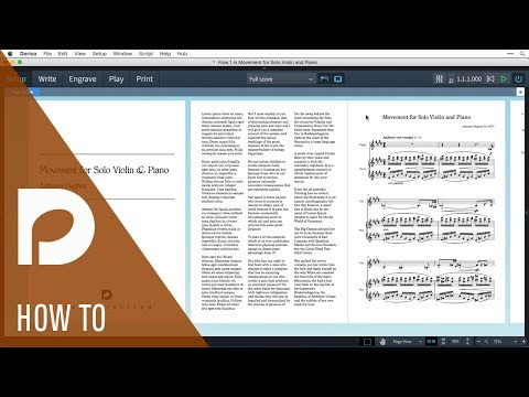 How to Create a Title Page and Instructional Sheet | Page Layout in Dorico