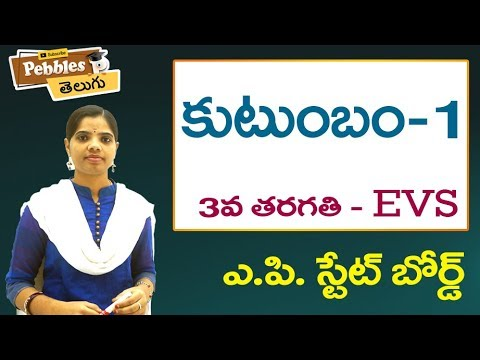 Kutumbam (Part-1) 3rd Class EVS-Telugu Video Lessons    A.P Telugu