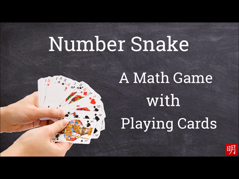 Number Snake--A Math Game With Playing Cards