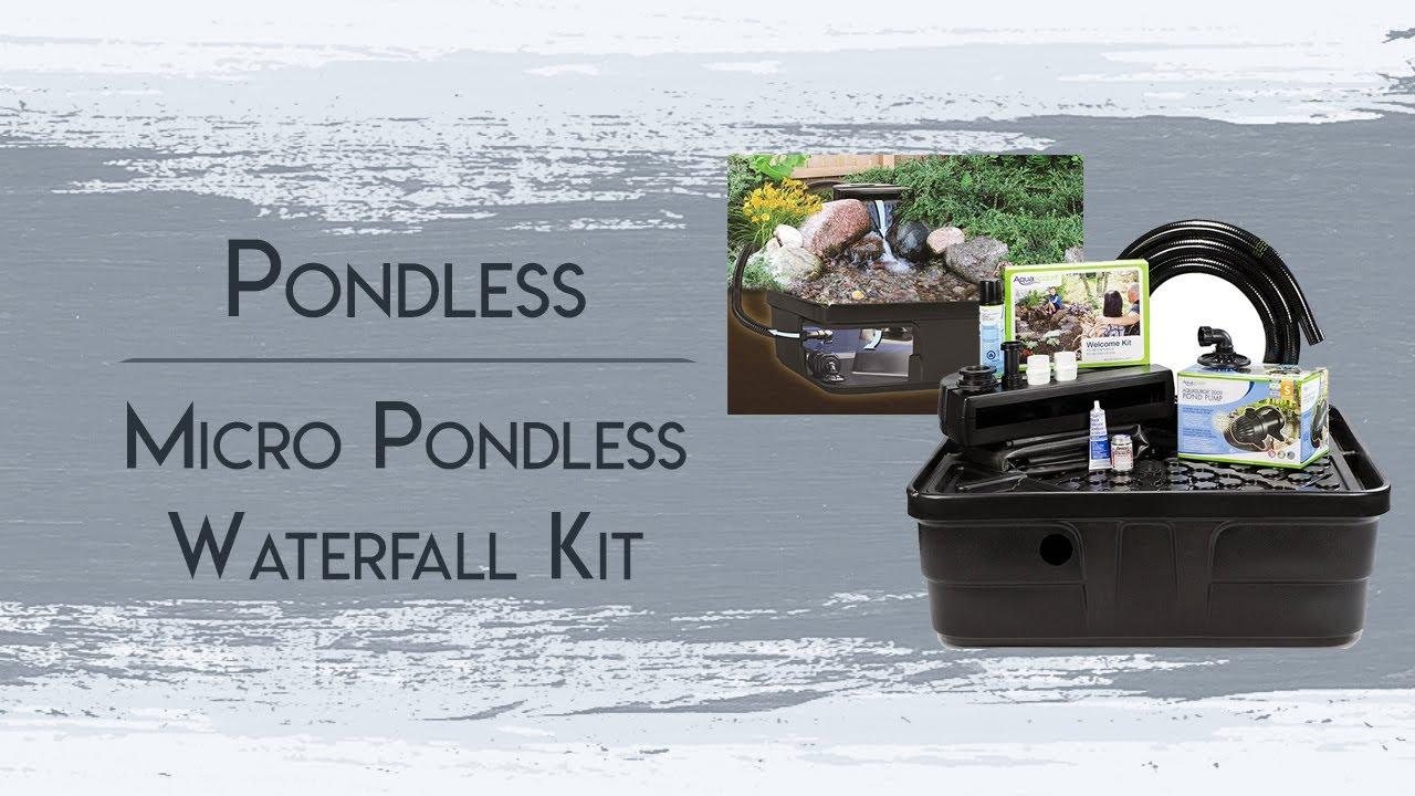 Micro Pondless Waterfall Kit Youtube