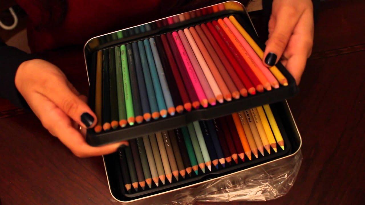 prismacolor premier 132 colored pencils unboxing youtube