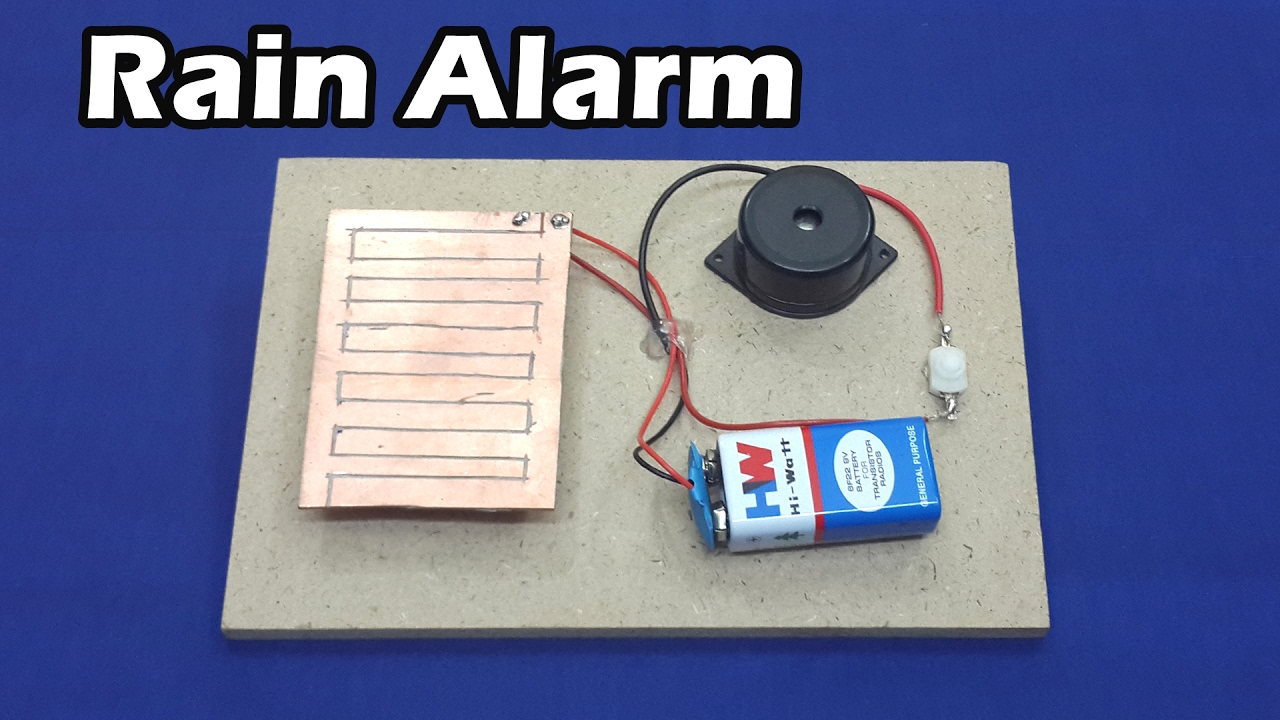 Simple Rain Alarm Circuit Diagram Trusted Wiring Detector With Mini Project Myclassbook How To Make A At Home Youtube Lie