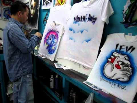 Airbrush on T-shirt By Huy in Panama City Beach, FL