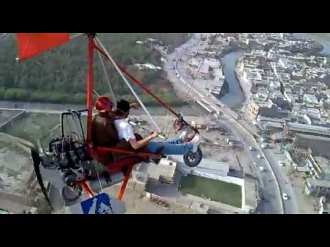 Microlight Trike flying at Peshawar Pakistan