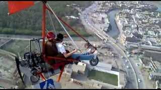 Microlight Trike flying at Peshawar Pakistan