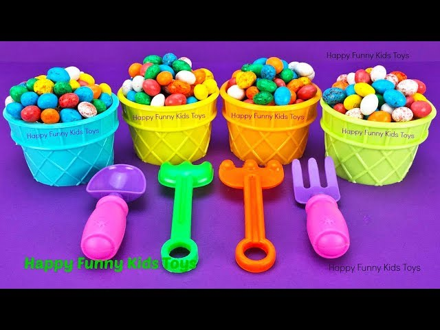 Speckled Eggs M&M Ice Cream Cups Surprise Toys Splashlings Shopkins Wild Style