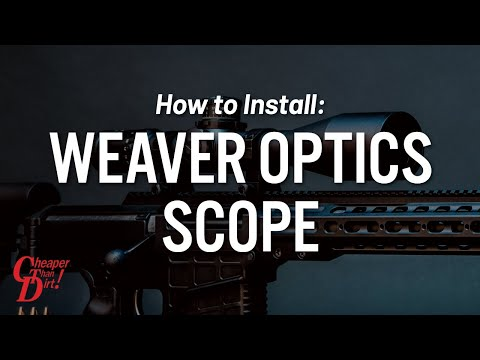 How to mount a scope properly by Weaver Optics