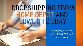 Using Lowes and Home Depot to Dropship on eBay