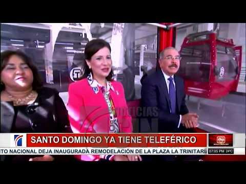 Presidente Medina deja inaugurado el Teleférico de Santo Domingo