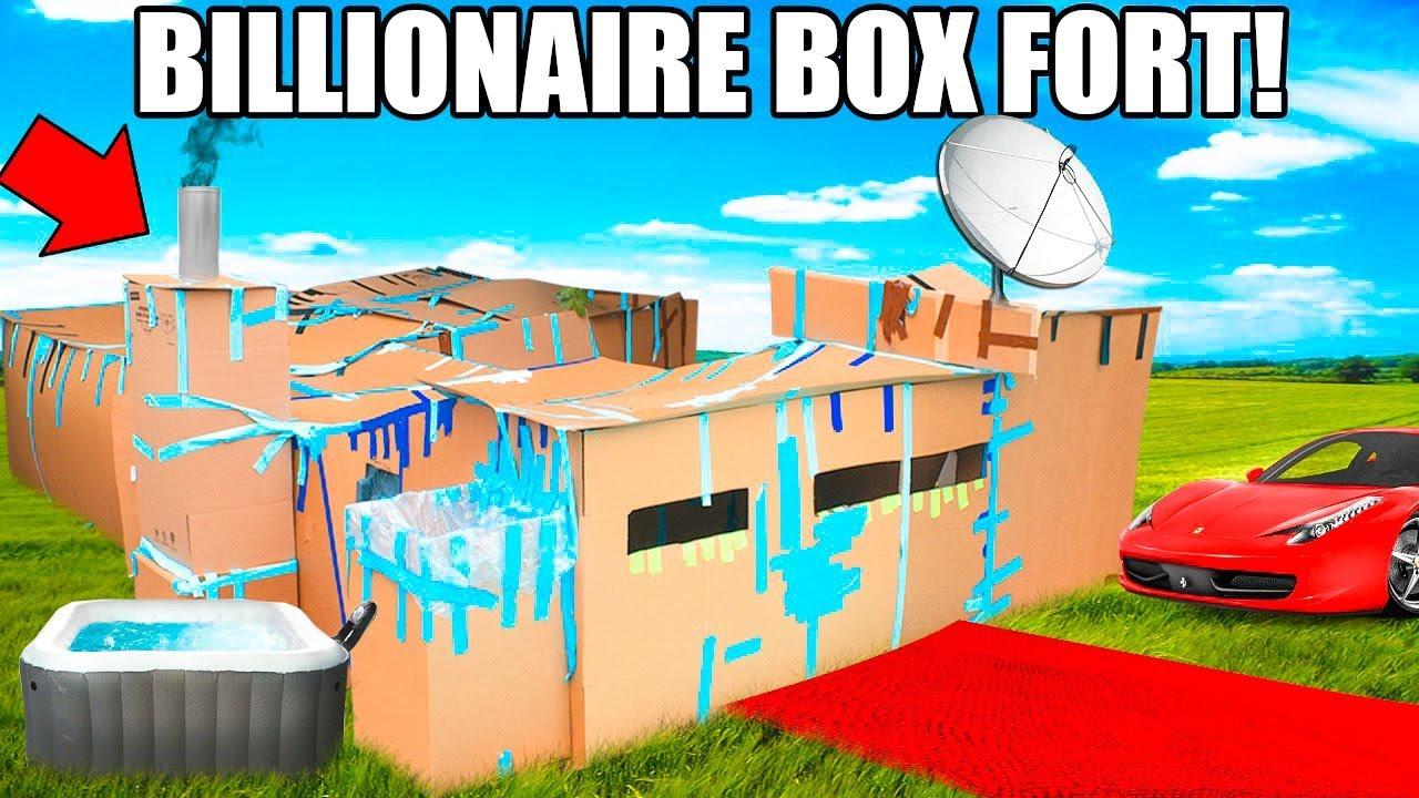 BILLIONAIRE BOX FORT MANSION!!