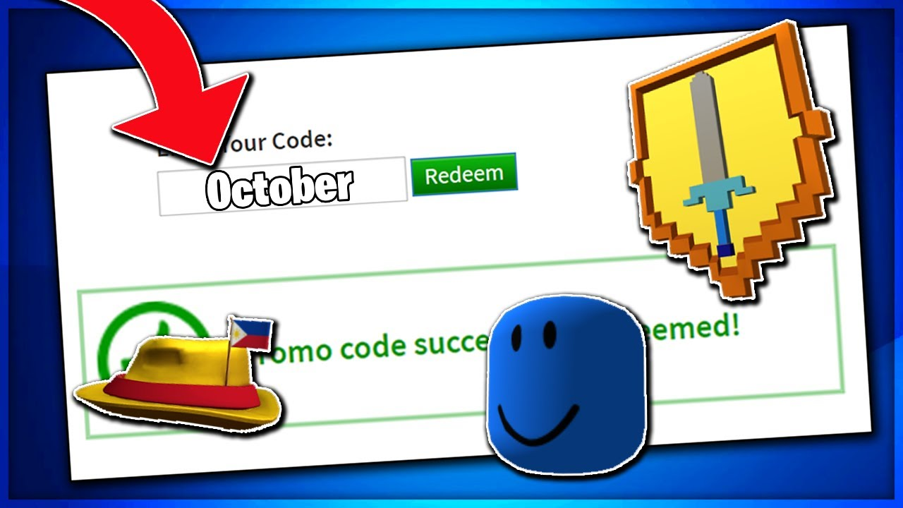 October All Working Promo Codes On Roblox 2019 Free Items Not