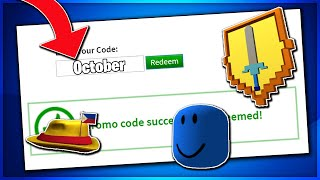 *OCTOBER* ALL WORKING PROMO CODES ON ROBLOX 2019 [FREE ITEMS] (NOT EXPIRED)