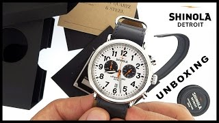 Shinola Runwell Chrono Watch Unboxing (HD Video Review)