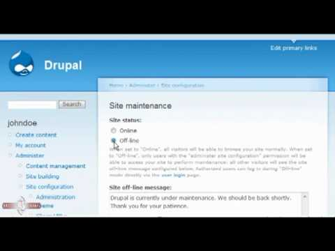 Maintaining your site in Drupal - Drupal Tutorial - YouTube