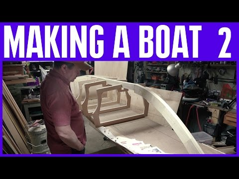 How To Build A Wooden Boat #2 Without Marine Plywood - Electric Motor - Hull Frames