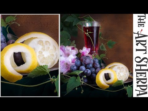 How to paint a Peeled Lemon in a Still life with More realis