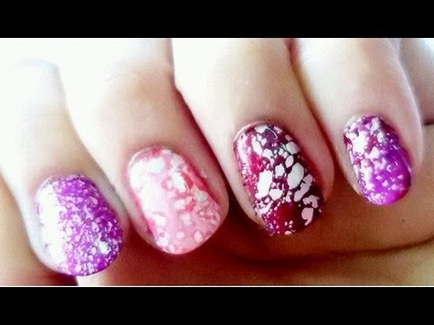 Sugar Salt Water Marble Nail Art Youtube