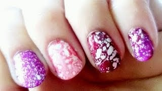 Sugar Salt Water Marble Nail Art Thumbnail