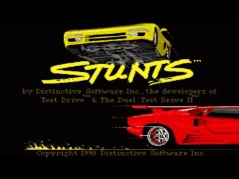 Stunts gameplay (PC Game, 1990) thumbnail