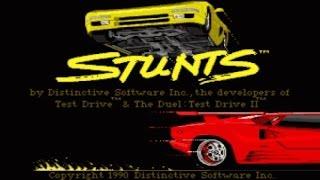 Stunts gameplay (PC Game, 1990)