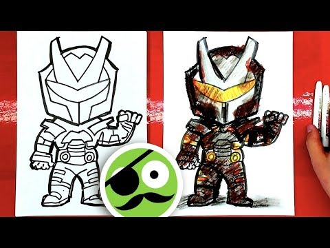 How To Draw OMEGA Fortnite / Coloring Book Art For Kids