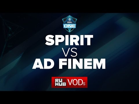Team Spirit -vs- Ad Finem || ESL One Frankfurt Quals || Game 2
