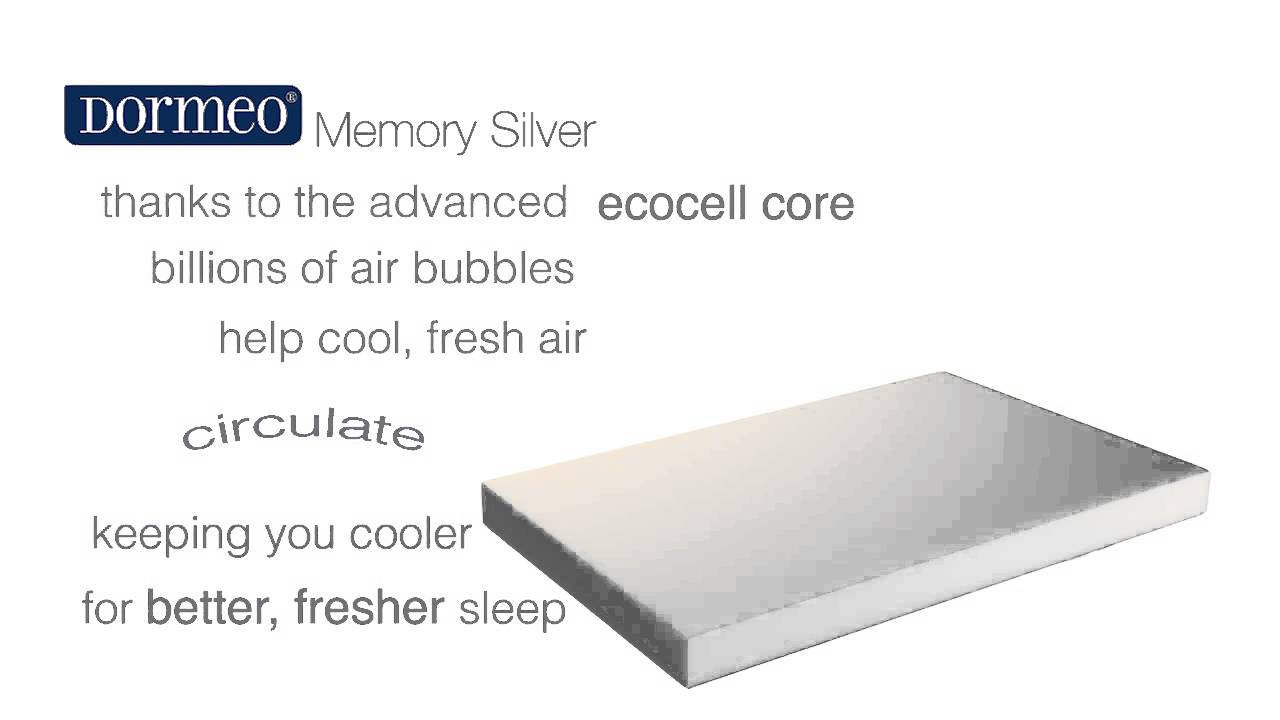 Materasso Top Air Silver.Dormeo Memory Silver Memory Foam Mattress Youtube