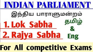 Indian Parliament | Indian Parliament Explained in Tamil | Rajya Sabha in Tamil |Tnpsc Polity
