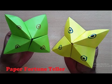 easy arts and crafts for kids how to make paper fortune teller easy origami fortune 7676