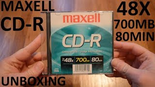 Unboxing Maxell CD-R - 48X 700MB 80Min