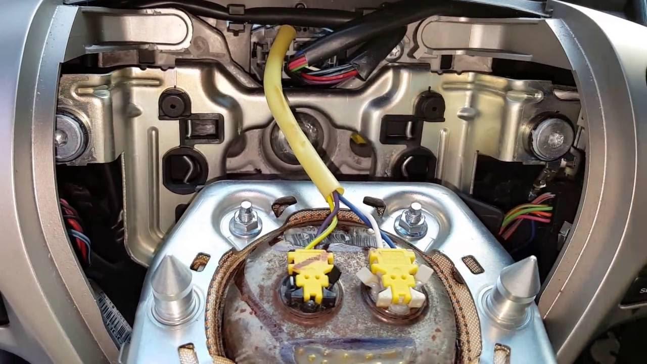 remove steering wheel airbag  ford taurus youtube