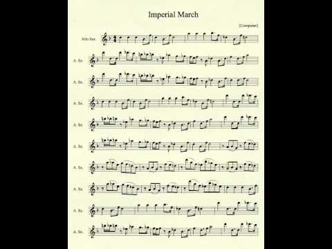 Imperial March for Alto Sax