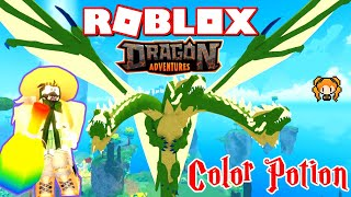 ROBLOX DRAGON ADVENTURES COLOR SHUFFLE POTIONS Testing! + My Sister's Dragons - HYDRA / MOTH