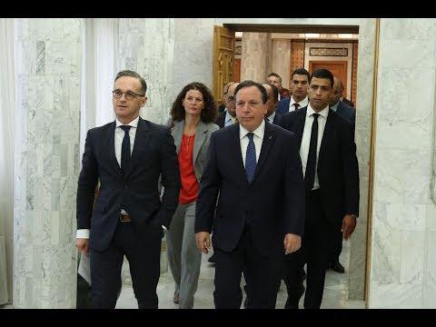 وزير الشؤون الخارجية يستقبل نظيره الألماني هايكو ماس الذي يؤدي زيارة بيومين إلى تونس