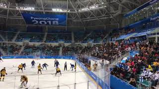 [Winter Olympics 2018] EXO Dancing King played during Ice Hockey match